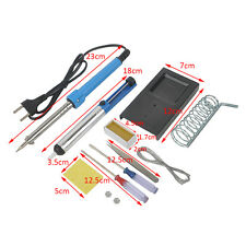 9 in1 60W 220V Electric Soldering Tools Kit Set Iron Stand with Desoldering Pump