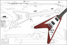 Gibson Flying V '67 Electric Guitar Full-Scale Plan