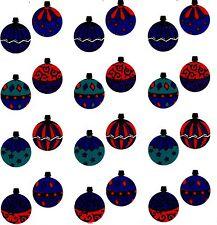 Mrs Grossman's Christmas Shiny ORNAMENTS Glass Balls Scrapbook Stickers 3 Strips
