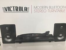 Victrola ITUT-420BLACK Modern 50-Watt Record Player with Bluetooth- Black