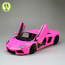1:18 Lamborghini Aventador LP700-4 Diecast Welly FX Model 18041 Pink