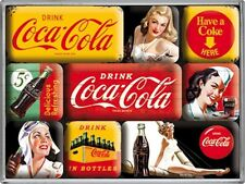 Coca Cola Yellow set of 9 mini fridge magnets    (na)