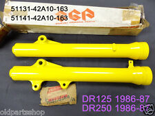 Suzuki DR125 DR250 Fork Outer Tube L & R 1986-88 NOS DR 250 Front Covers -42A10
