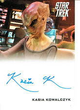 STAR TREK MOVIES 2014 AUTOGRAPH CARD KASIA KOWALCZYK AS KELVIN ALIEN