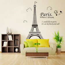 3D Paris Eiffel Tower Vinyl Art Decal Mural Home Room Wall Sticker Decor Gift