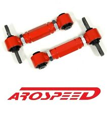 RED RACING REAR ADJUSTABLE CAMBER ARMS KIT FOR 92-95 HONDA CIVIC EG EJ D15 D16