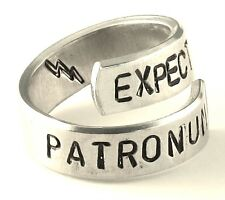 Expecto Patronum - Harry Potter Inspired Quote Hand Stamped Ring Protection Ring