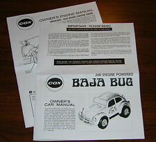 COX .049 BAJA BUG OWNERS CAR INSTRUCTION AND 049 ENGINE MANUAL