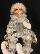 "Katherine's Collection Retired 30"" Carnaval Silver Christmas Elf Doll New"