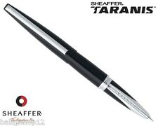 Sheaffer Taranis Lacquer Black Fountain Pen Medium Nib With Converter New In Box