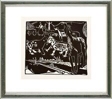 Heinrich Campendonk (1889-1957), Landschaft mit Ziegen und Wildkatzen, 1920/21