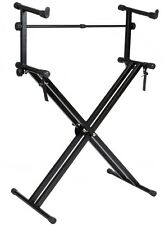 Pro Adjustable Double 2-Tier X Style Dual Electronic Piano Keyboard Music Stand
