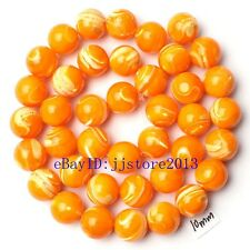 """10mm Natural Gold Color Shell MOP Round Shape Gemstone Loose Beads Strand 15"""""""