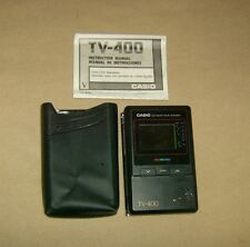 vintage CASIO TV-400 Pocket TV with carrying case
