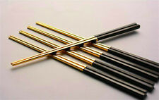 "9.2""luxury Gilded Chopstick Stainless Steel Cutlery Anti-scald Square Chopsticks"