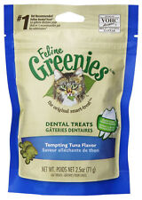 FELINE GREENIES TUNA FOR CATS. 2.5OZ BAG