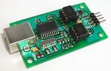 Optically isolated USB UART / RS232 serial converter, galvanic 3.3 to 5V - EU