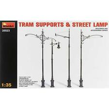 NEW MiniArt 1/35 Tram Supports (3) Street Lamp (1) 35523
