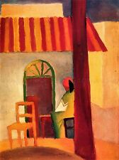 AUGUST MACKE TURKISH CAFE OLD MASTER ART PAINTING PRINT POSTER 30X40 CM 333OMA