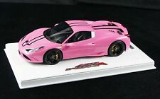 1/18 BBR FERRARI 458 SPECIALE A COUPE GLOSS QATAR PINK DELUXE BASE LE 10 PCS