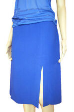 VERSACE New Women Blue Formal Cocktail Fashion Pencil Knee Skirt sz 12 M АN23