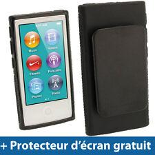 Noir Étui Coque 'Clip'n'Go' TPU pour Nouveau Apple iPod Nano 7ème Gén 7G 16GB