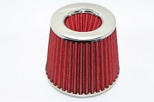 Twin Cone Universal Air Filter 3 ports W155*H130MM  65mm ID Neck Red
