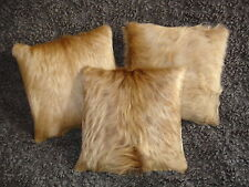 Kuhfell-Kissen, goldblond, 30x30 cm, cowhide cushion, fur pillow