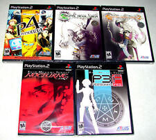 lot of 5 SHIN MEGAMI TENSEI (Playstation 2 PS2 Games) *ALL NEW FACTORY SEALED*