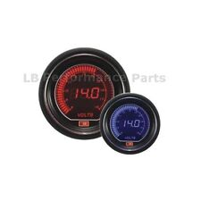 60mm Stealth Blue / Red LCD Digital Volt / Voltage Gauge For Evo Subaru Nissan