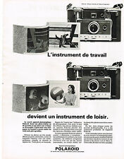 PUBLICITE ADVERTISING  1964   POLAROID   appareil photo