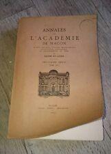 Annales de l'Académie de Mâcon.Tome 30. XXX. 1935