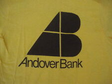 Vintage 70's ANDOVER BANK Made in the USA 100% Cotton Punk Rock NEW T shirt XS