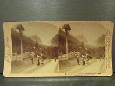 ancienne photo stereoscopique underwood jarvis devotions ecole tyrol autriche