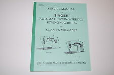 Professional Service Manual on CD for Singer 500 500A 503 503A Sewing Machines.