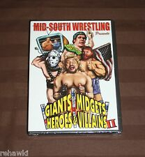 WWE-Giants, Midgets, Heroes and Villians - Vol.2 (DVD, 2008) MID SOUTH WWF NWA