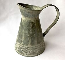 Rustic Zinc Jug Vintage Shabby Chic Style Country Kitchen Pitcher Vase
