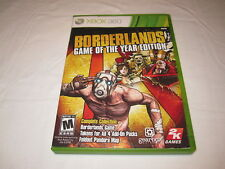 Borderlands Game of the Year Edition (Microsoft Xbox 360) Complete Vr Nice!