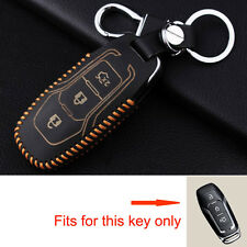 For Ford Mondeo Mustang Fusion Smart Remote Key Leather Chain Cover Shell Fob 3B