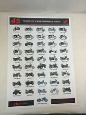 THE 45 YEAR HISTORY OF HONDA MOTORCYCLES POSTER 27x20