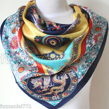 AUTHENTIC RICHES AND HONOUR DESIGN 35INCH 100% SILK SCARF SQUARE WOMEN SCARF