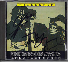 Thompson Twins - Best of (CD) SIGNED BY ALL THREE - Tom. Alannah and Joe - RARE