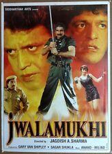 """India Bollywood 2000 Jwalamukhi poster 28"""" x 38"""" Mithun Chakraborty Chunky"""