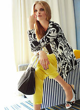 Womens UK 12 Elegance Paris Super Skinny Lemon Yellow Jeans RRP £89.00 (B NEW)