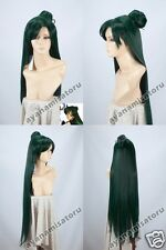 Sailor Moon Pluto Setsuna Meioh Anime Cosplay Costume Wig +Free Track +Wig CAP