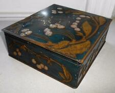 VINTAGE HUNTLEY & PALMERS 'CHERRIES' BISCUIT TIN c.1905