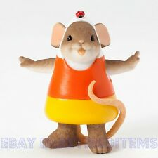A Little Corny, But So Sweet CHARMING TAILS Mouse Figurine Candy Corn Halloween