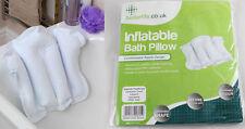 Almohada inflable de baño con ventosa nuevo jefe resto comodidad Cojín de viaje NUEVO