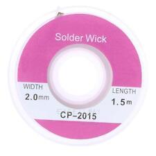 1.5m 5ft 2.0mm Desoldering Braid Solder Remover Wick Copper Spool Wire CP-2015