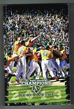 2013 Oakland A's MLB Baseball Media GUIDE
